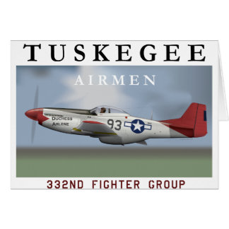 P51D Red Tail fighter flown by Tuskegee Airmen Greeting Card