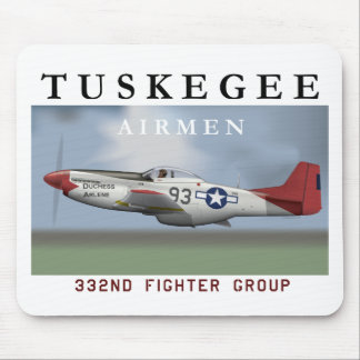 P51D Red Tail fighter flown by Tuskegee Airmen Mouse Pad