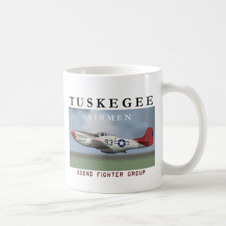 P51D Red Tail fighter flown by Tuskegee Airmen Mugs
