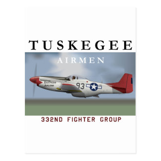 P51D Red Tail fighter flown by Tuskegee Airmen Post Card