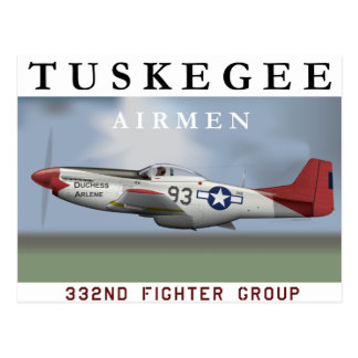 P51D Red Tail fighter flown by Tuskegee Airmen Post Cards