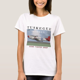 P51D Red Tail fighter flown by Tuskegee Airmen T-Shirt