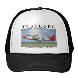 P51D Red Tail fighter flown by Tuskegee Airmen Trucker Hat