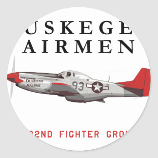 P51DredtailTuskegeeTitle_TeeSpring_Large.png Classic Round Sticker