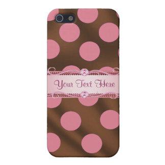 P6 Pink Brown Silk Polka Dot Iphone 4/4S case