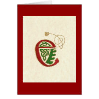 p78 CELTIC LETTER E Card
