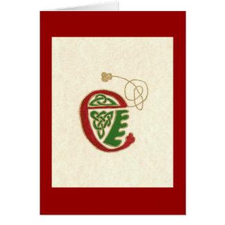 p78 CELTIC LETTER E Greeting Card
