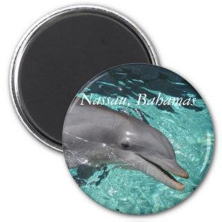 P8010404, Nassau, Bahamas 2 Inch Round Magnet