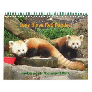 P8310607 Love those Red Pandas - Customized Wall Calendars