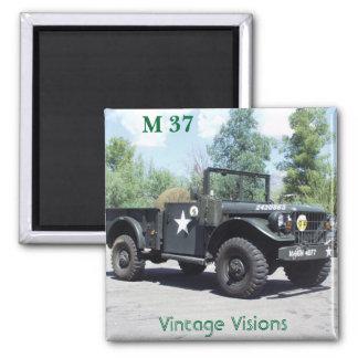 P9010006, Vintage Visions, M 37 2 Inch Square Magnet