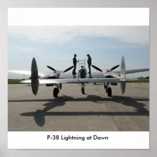 P-38 at Dawn, P-38 Lightning at Dawn Poster