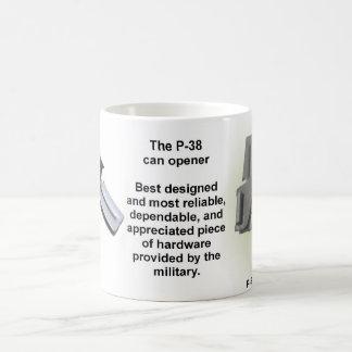 P-38 can opener mug