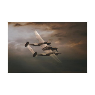 P-38 In The Pacific.jpg Canvas Prints