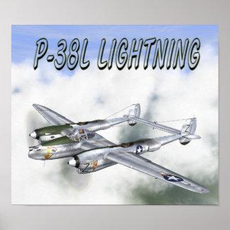 P-38L LIGHTNING POSTER