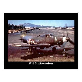 P-39 Airacobra Tarjeta Postal