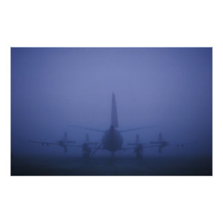 P-3 in Fog Bank Poster