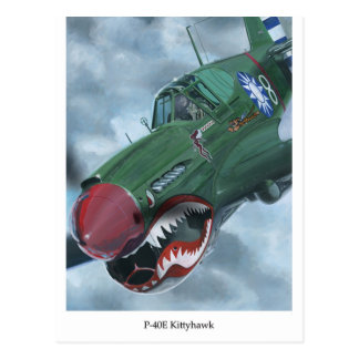 P-40 Kitty Hawk Postales