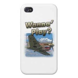P-40 Plane - Wanna Play? iPhone 4/4S Cases
