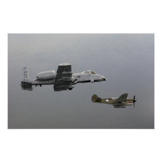 P-40 Tomahawk and A-10 Warthog Print