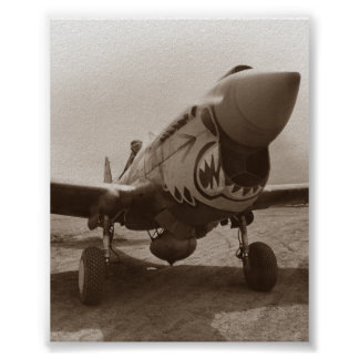 P-40 Warhawk - World War 2 Poster