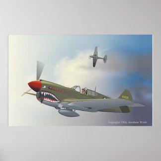P-40 Warhawks Póster