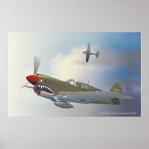 P-40 Warhawks Poster