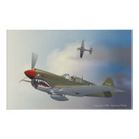 P-40 Warhawks Print