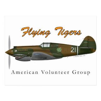 P-40B Flying Tigers Postcard
