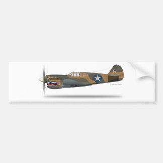 P-40E CAR BUMPER STICKER