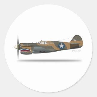 P-40E CLASSIC ROUND STICKER