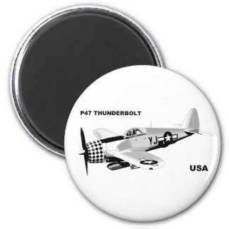 P-47 THUNDERBOLT 2 INCH ROUND MAGNET