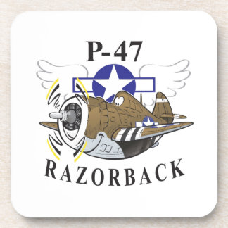 p-47 thunderbolt beverage coaster
