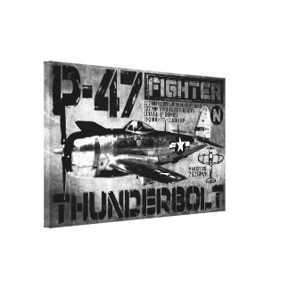 P-47 Thunderbolt Stretched Canvas Prints
