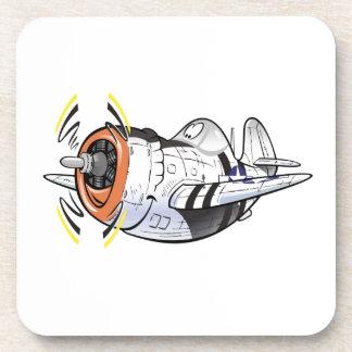 P-47 thunderbolt drink coaster