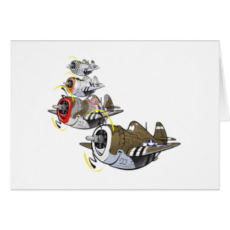 P-47 thunderbolt in formation card