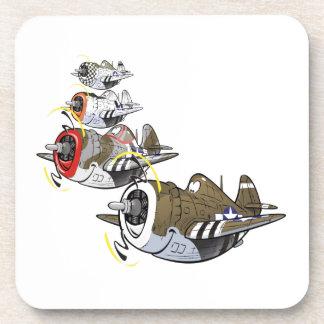 P-47 thunderbolt in formation coaster