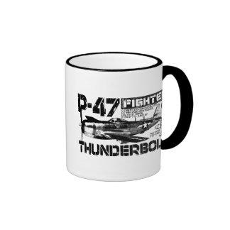 P-47 Thunderbolt Ringer Coffee Mug