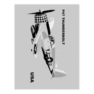 P-47 THUNDERBOLT POSTCARD
