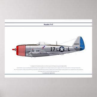 P-47D 493FS USAAF PÓSTER