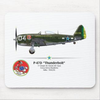 P-47D Thunderbolt - the Drill Seats - BAF Mouse Pad