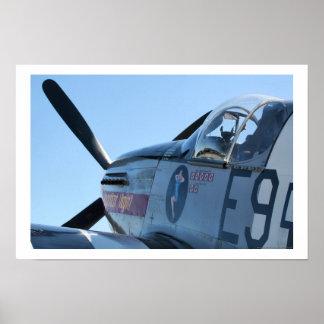 P-51 B Mustang Poster