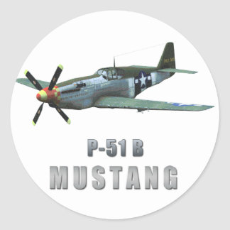 P-51 B Mustang Stickers