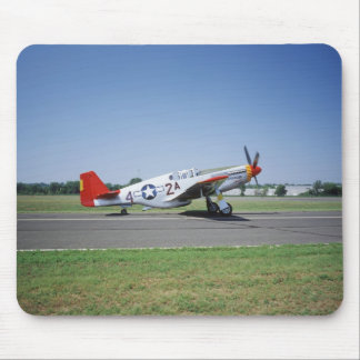 P-51 C Tuskegee Red Tail airplane at the CAF Air Mouse Pad