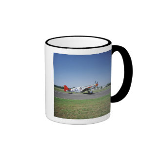 P-51 C Tuskegee Red Tail airplane at the CAF Air Ringer Coffee Mug
