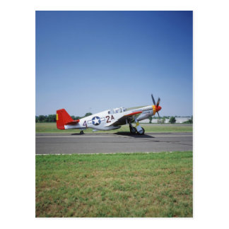 P-51 C Tuskegee Red Tail airplane at the CAF Air Postcard