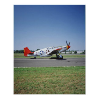 P-51 C Tuskegee Red Tail airplane at the CAF Air Posters