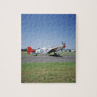 P-51 C Tuskegee Red Tail airplane at the CAF Air Puzzles