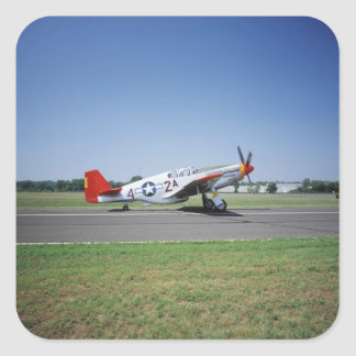 P-51 C Tuskegee Red Tail airplane at the CAF Air Square Sticker