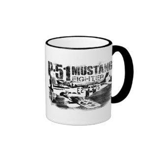 P-51 Mustang 11 oz Ringer Mug