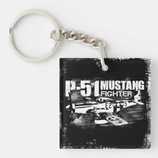 P-51 Mustang Acrylic Keychain